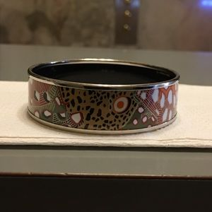 Herme's GildedAccent Enamel VintageBangle Bracelet